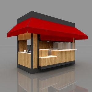 3D model interior spaces exhibition