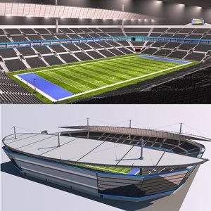 3D stadium football ball model