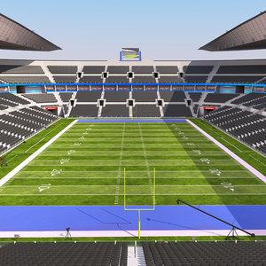 stadium football ball 3D model
