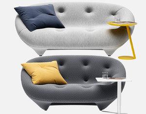 3D sofa ploum loveseat