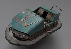 abandoned pripyat bumper car-dodgem 3D model