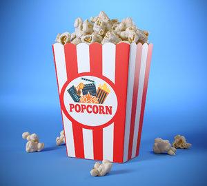 popcorn box 3D