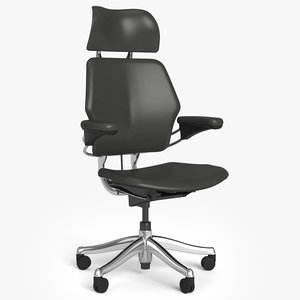humanscale freedom headrest 3D model