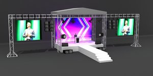 stage truss model