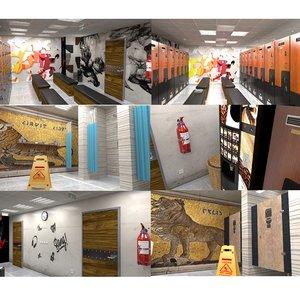 lock room restroom 3D
