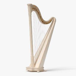 3D model realistic lever harp