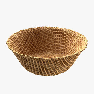 3D model bowl waffle
