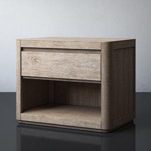 martens open nightstand 3D model