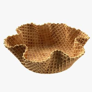 3D bowl waffle