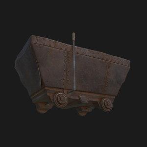 3D rusty trolley model