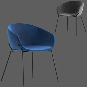 linea furniture vanya chair 3D model