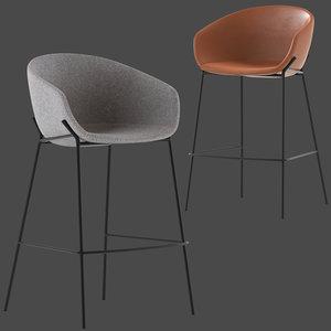 3D linea furniture vanya barstool model