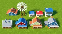 Low Poly Cartoon Houses Pack