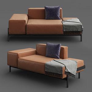 minimalist modern sofa ds-21 3D