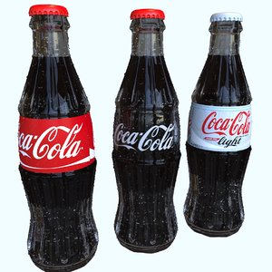 3D cola 250ml bottle model