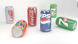 soda drink cola 3D model