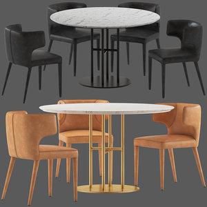 coco republic flex table 3D