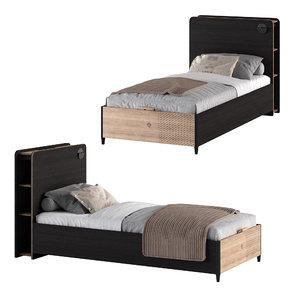 3D black bed cilek model