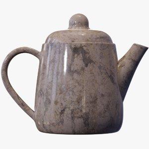 teapot marble tea 3D model