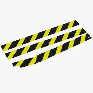 warning tapes 3D