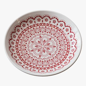 3D decorative ceramic plate