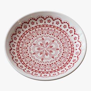 3D decorative ceramic plate