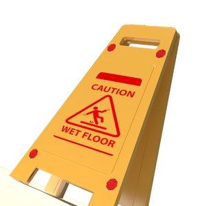 caution wet floor 3D model