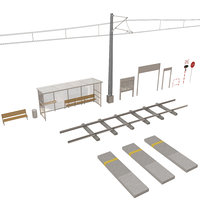 train station set