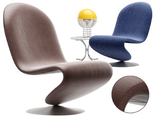 3D 123 lounge chair verpan