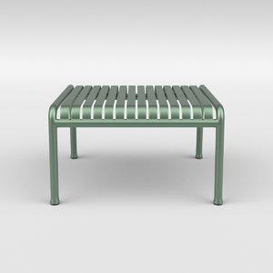 3D model palissade ottoman