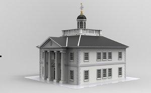3D supreme court building model