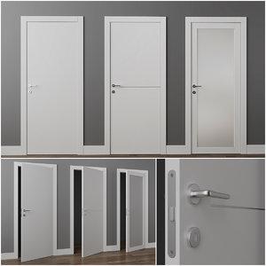 doors union alfa laccato 3D model