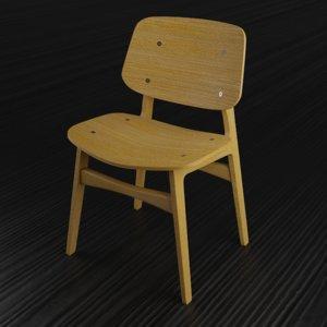 modern wooden chair home furniture model