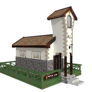 building church chapel 3D model