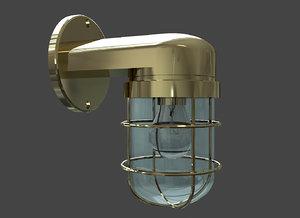 3D wall mounted bulkhead lamp