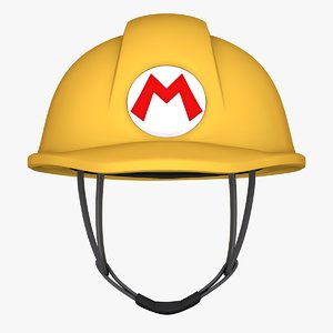 3D mario maker helmet -