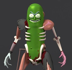 pickle rick rat suit 3D model