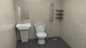 3D restroom rest