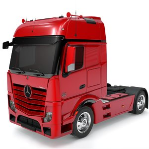 3D mercedes benz actros red model