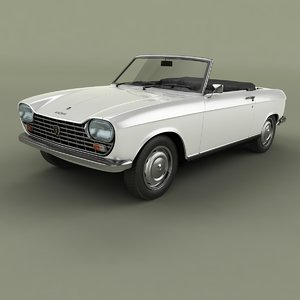 1966 peugeot 204 convertible 3D model