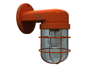 wall mounted bulkhead lamp 3D model