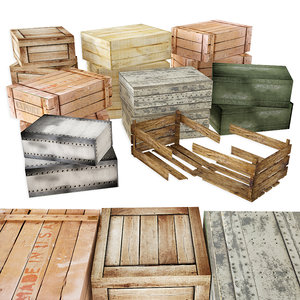 3D wooden metal boxes