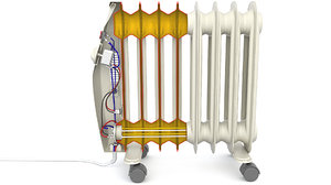 3D electric heater radiator