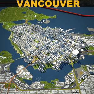 vancouver skyline 3D model