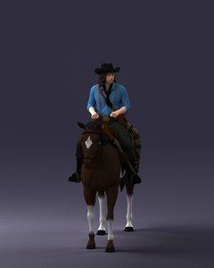 scanned horse cowboy 3D model
