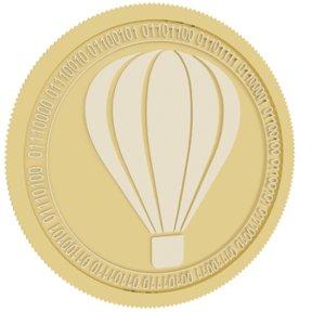 3D tripio gold coin model