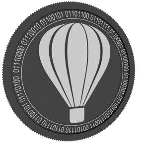 3D tripio black coin