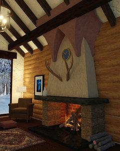 chimney woods 3D model