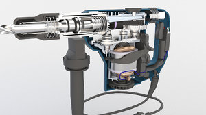 electric drill hammer 3D