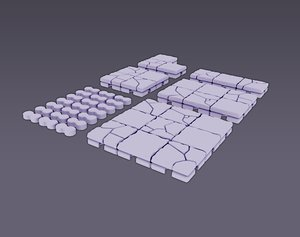 interlocking printable dungeon tiles model